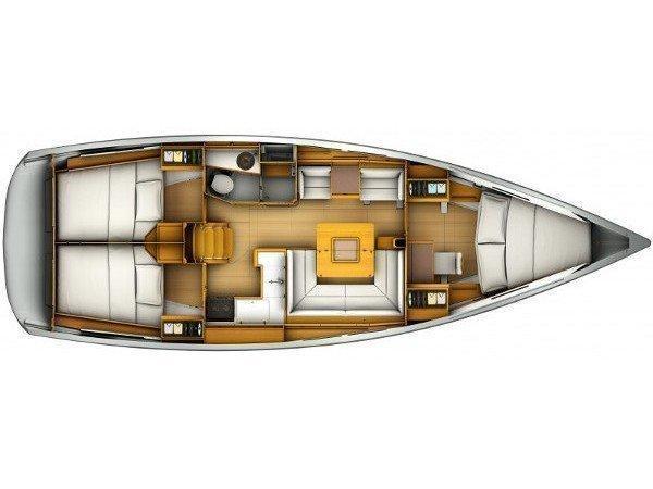 Sun Odyssey 409 (Audenis) Plan image - 11