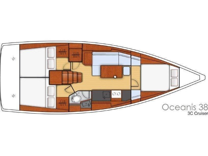 OCEANIS 38 BT (FEDE) Plan image - 14
