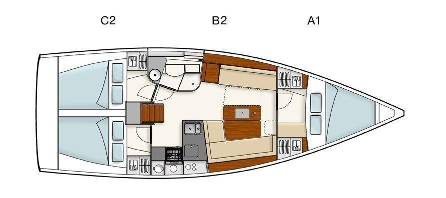 Hanse 385 (Tino) Plan image - 1