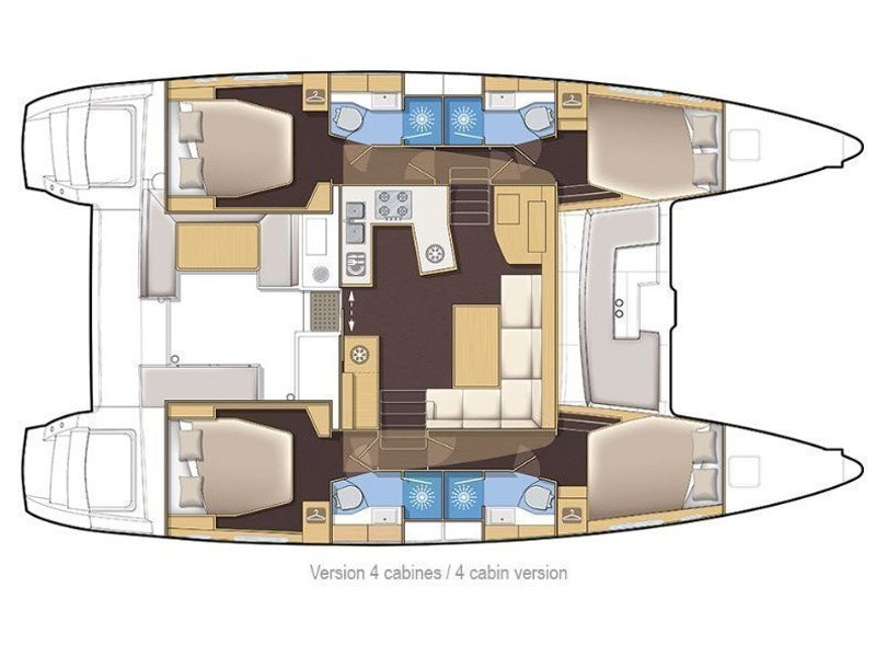 Lagoon 450 (The Graduate) Plan image - 2