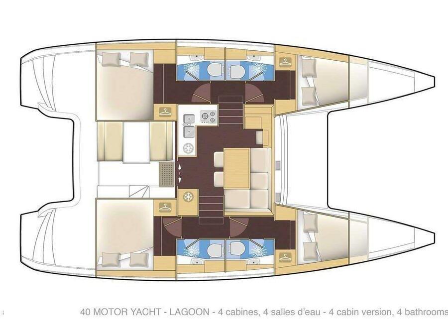 Lagoon 40 (Bahia Real) Plan image - 1