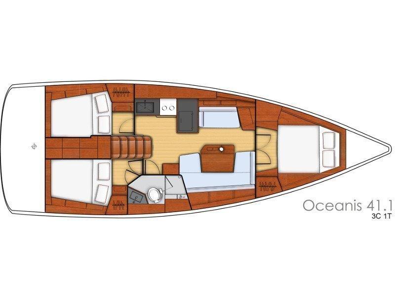 Oceanis 41.1 (White Beauty) Plan image - 14