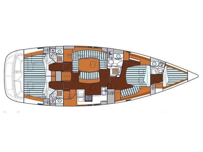 Oceanis 523 Clipper (Marlu) Plan image - 4