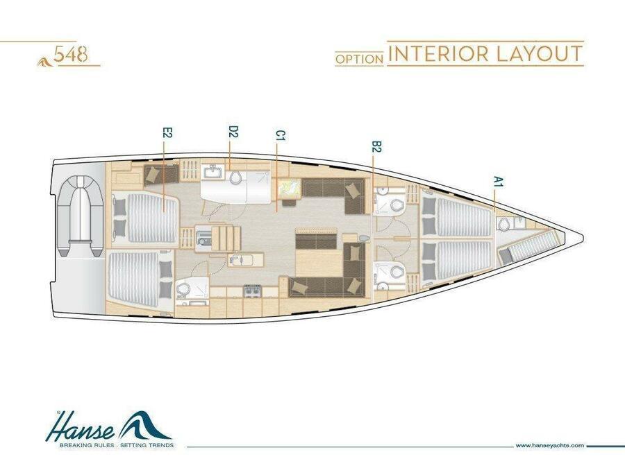 Hanse 548 (JOY) Plan image - 18