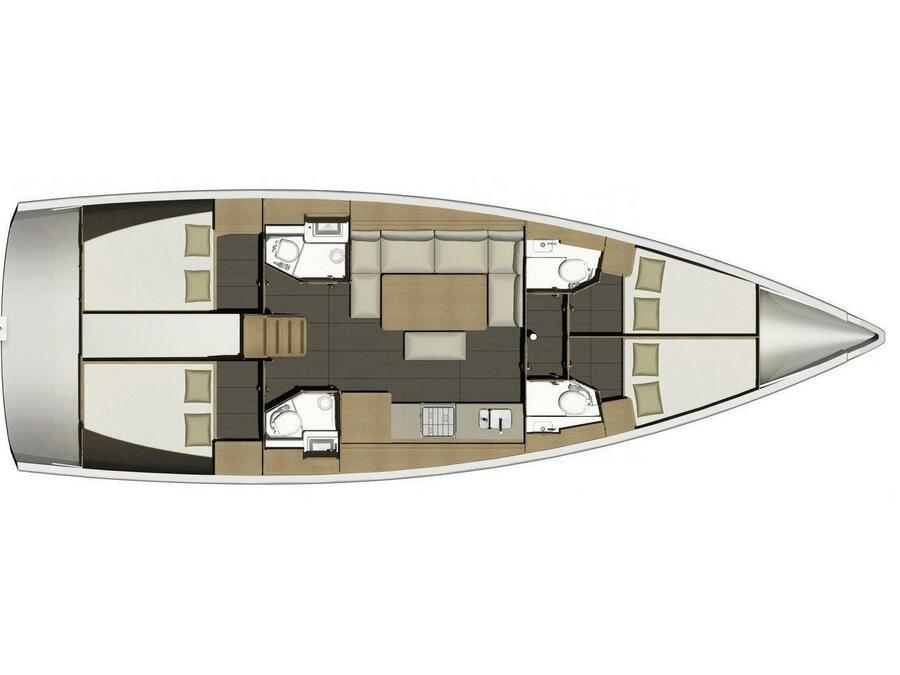 Dufour 460 Grand Large (Mirjana) Plan image - 12