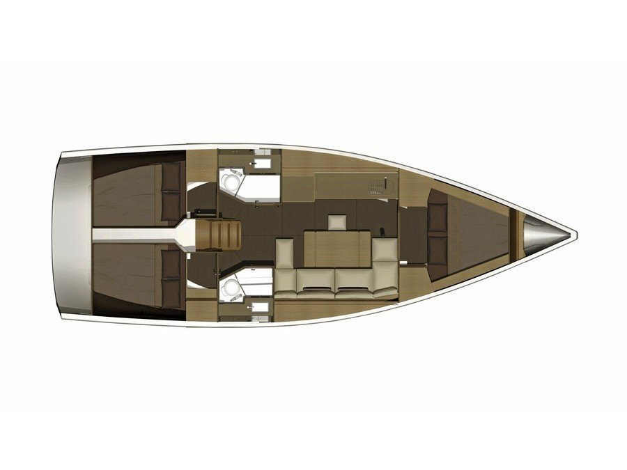 Dufour 382 Grand Large (Fortuna) Plan image - 12