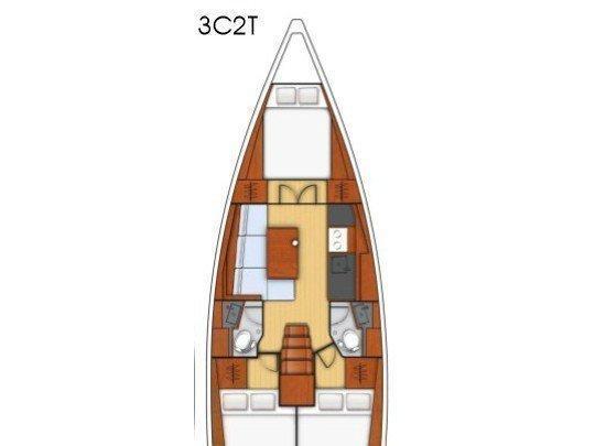Oceanis 38.1 (PHILYRA ) Plan image - 16