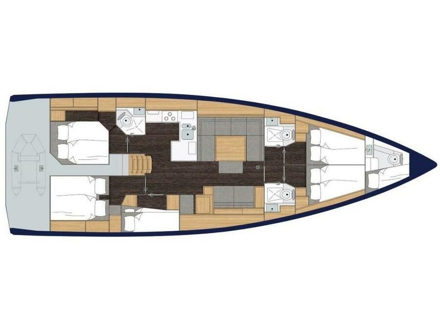 Bavaria C50 (S/Y Elli) Plan image - 2