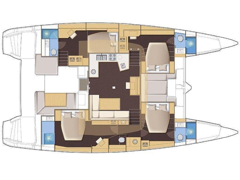 Lagoon 52 (TEQUILA SUNRISE AC Generator Watermaker) Plan image - 51