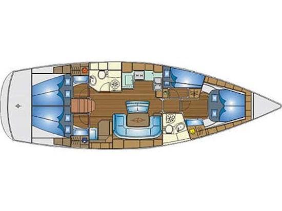 Bavaria 46 Cruiser  (S/Y Pasiphae) Plan image - 2