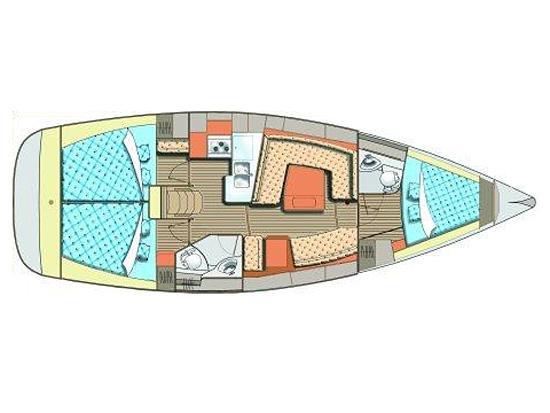 Elan 384 Impression (S/Y Artemis) Plan image - 1