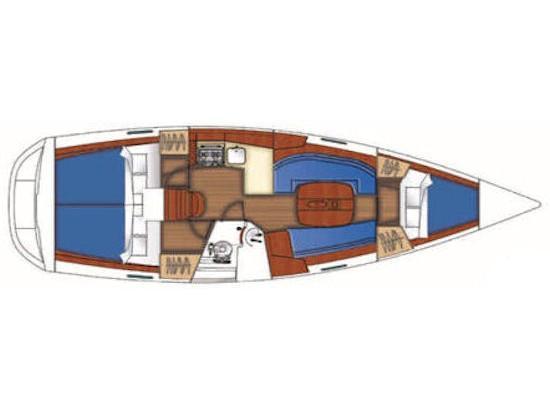 Oceanis 34.3 (S/Y Naysika) Plan image - 1