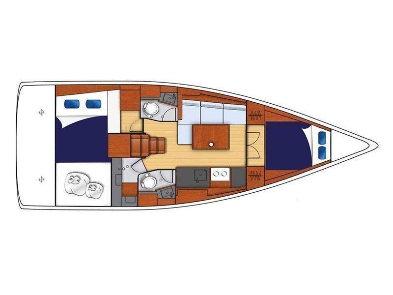 Oceanis 38 () Plan image - 1