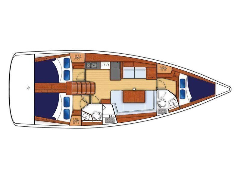 Moorings 42.3 () Plan image - 1