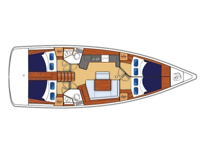Moorings 45.4 () Plan image - 1