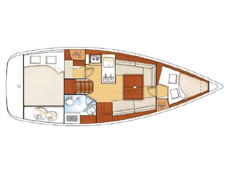 Oceanis 31 () Plan image - 2