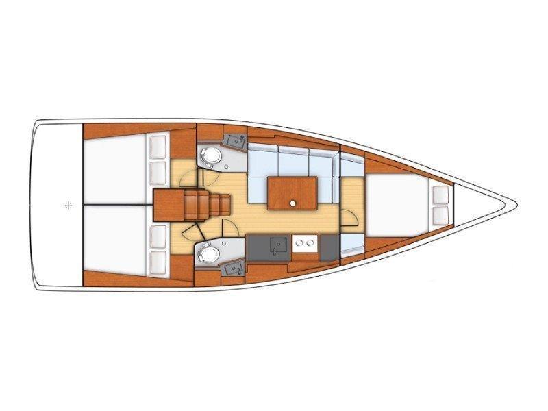Sunsail Oceanis 38 () Plan image - 2