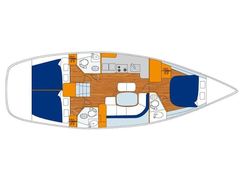 Oceanis 423 () Plan image - 1