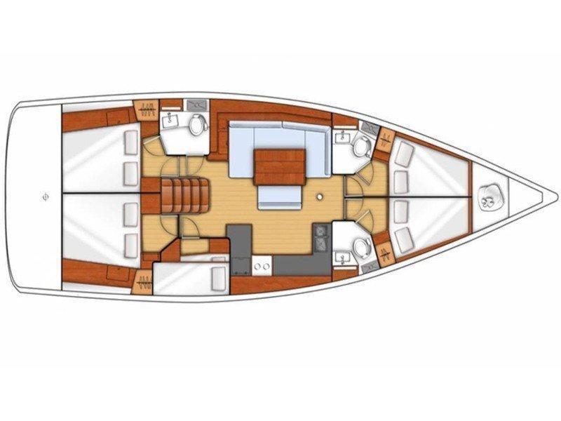 Oceanis 48 () Plan image - 1