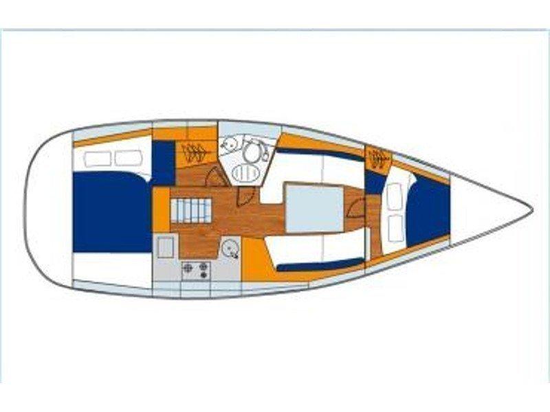 Sunsail 32i () Plan image - 2
