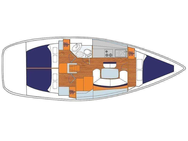 Sunsail 38 () Plan image - 1