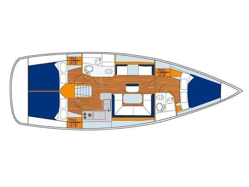 Sunsail 41.1 () Plan image - 2