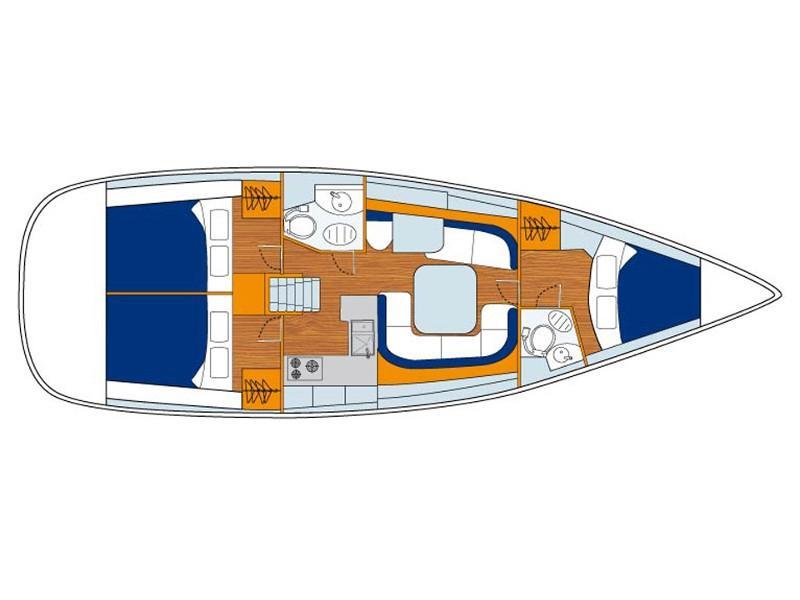 Oceanis 42 () Plan image - 1