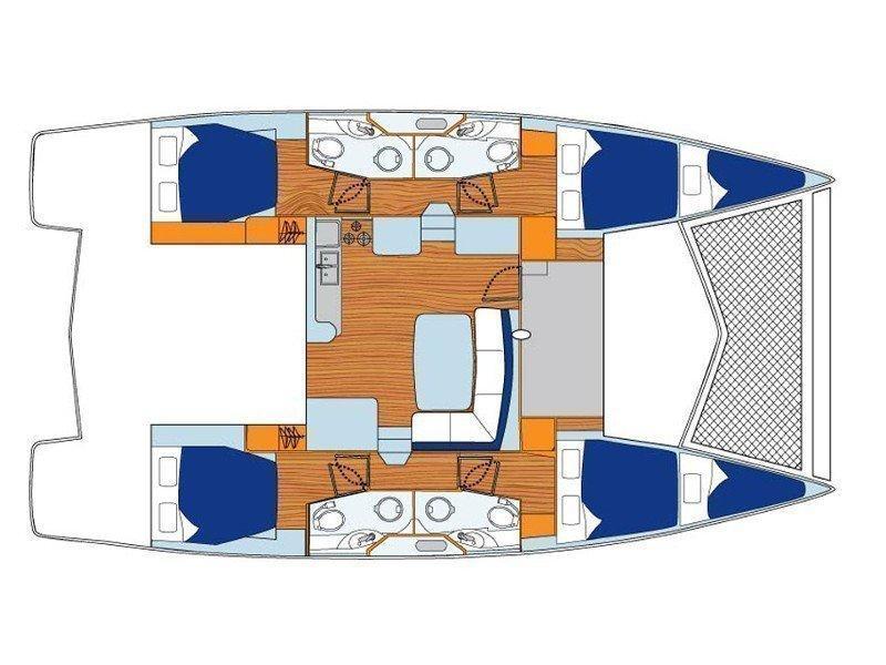 Sunsail 444 () Plan image - 3