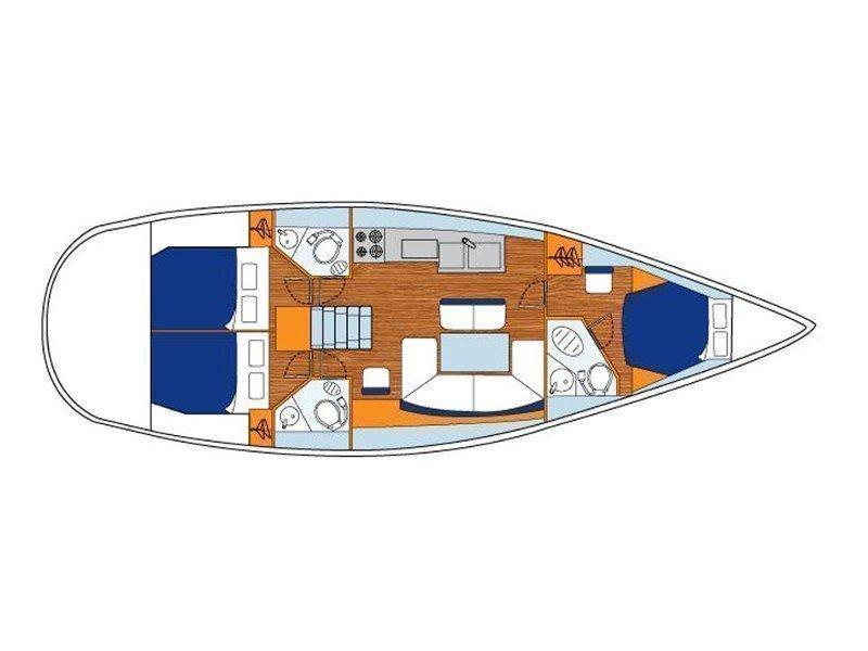 Sunsail 44i () Plan image - 7