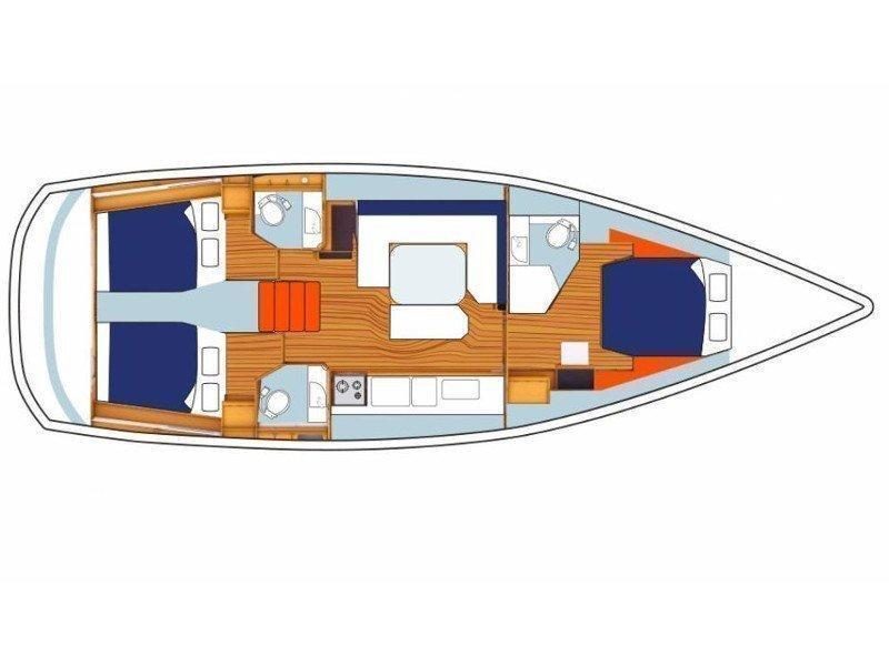 Sunsail 47/3 () Plan image - 3