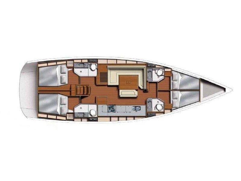 Sunsail 51 () Plan image - 12