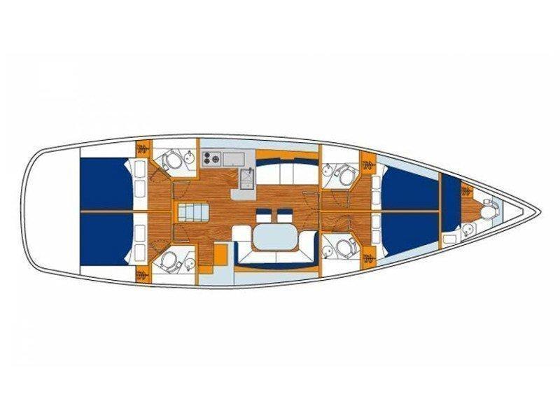 Sunsail 53 () Plan image - 11