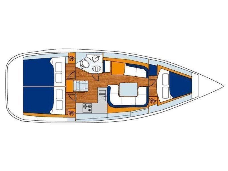 Sunsail 36i () Plan image - 4