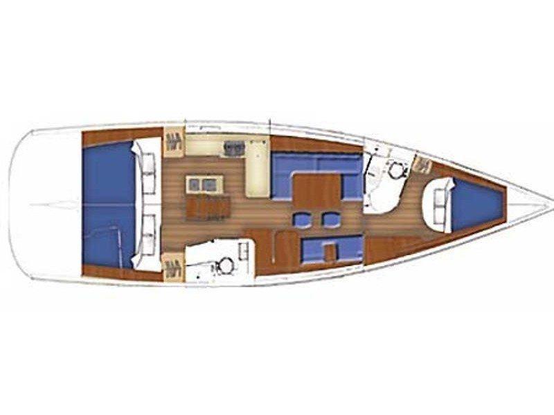 Oceanis 40 () Plan image - 1