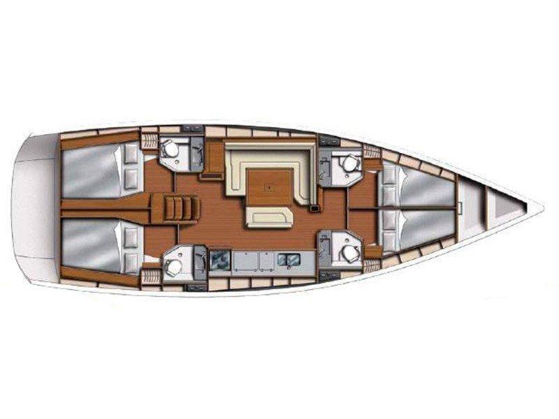 Sun Odyssey 469 () Plan image - 4