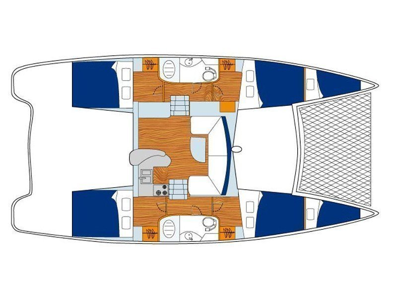 Sunsail 404 () Plan image - 1