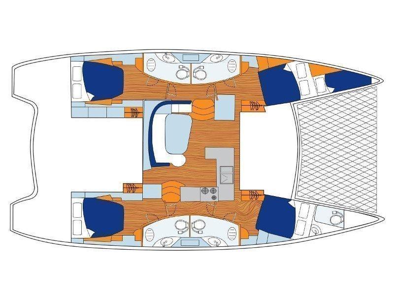 Sunsail 454 () Plan image - 1
