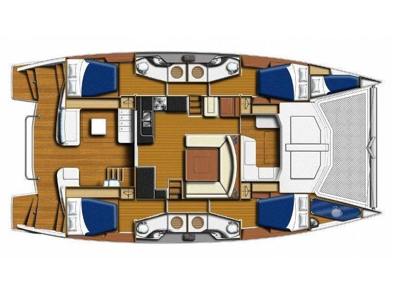 Sunsail 484 () Plan image - 7