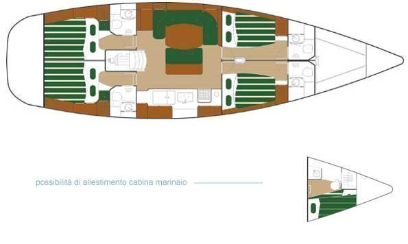 Beneteau 50-4 (Alboran Bikini (Radazul)) Plan image - 1