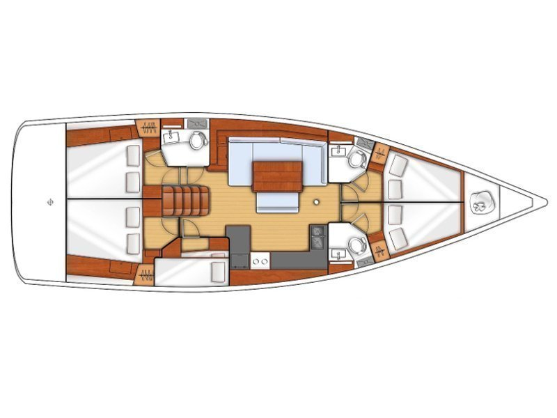 Oceanis 48 (Lucy) Plan image - 3