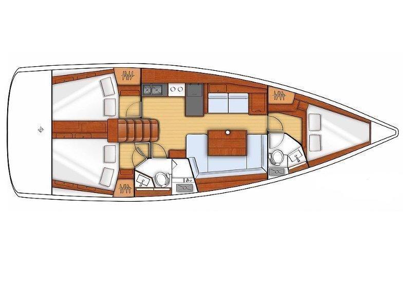 Oceanis 41 S (Slunicko) Plan image - 4