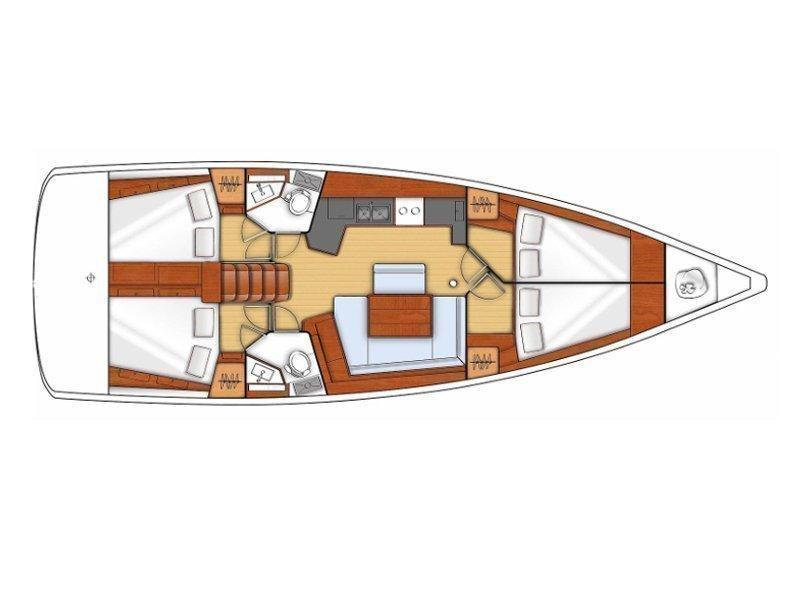 Oceanis 45 V (Viki) Plan image - 3