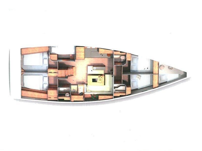 Hanse 505 (Marina Estrella One) Plan image - 9