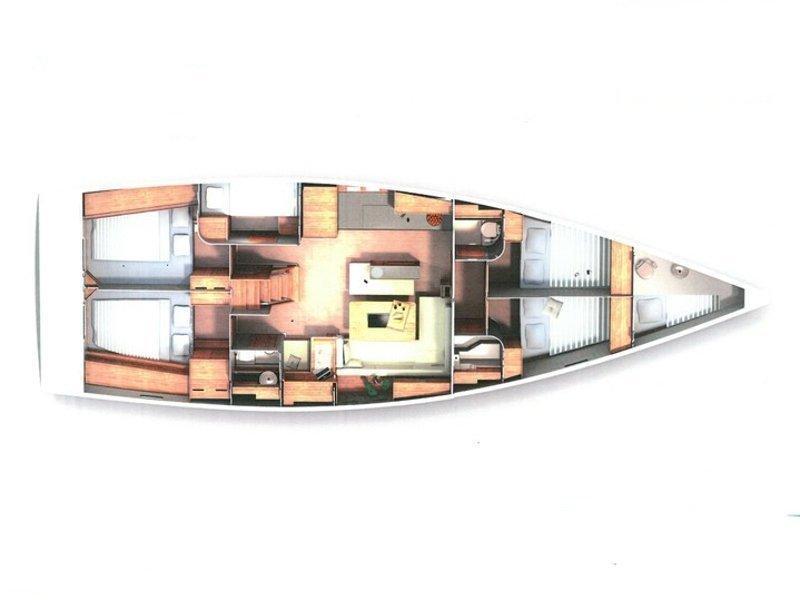 Hanse 505 (Marina Estrella Three) Plan image - 8