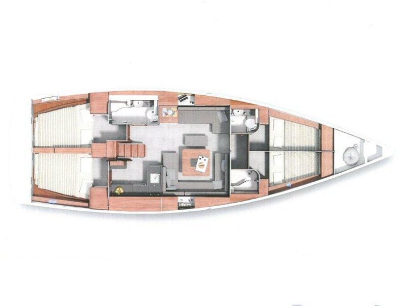 Hanse 455 (Marine Spirit Four) Plan image - 1