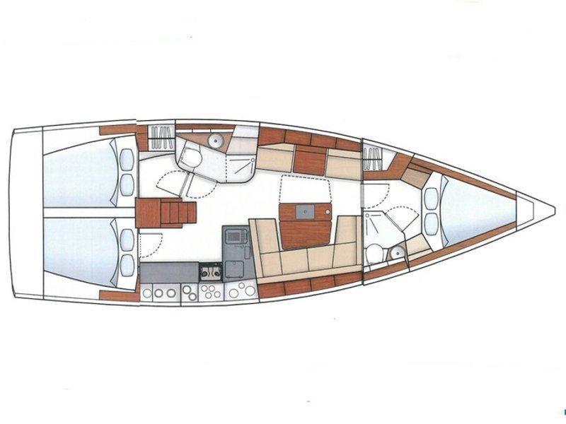 Hanse 415 (Marine Spirit One) Plan image - 2