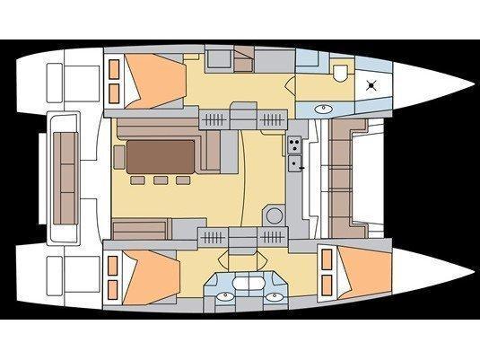 Bali 4.3 - 3 double cabins (Alpaga ) Plan image - 9