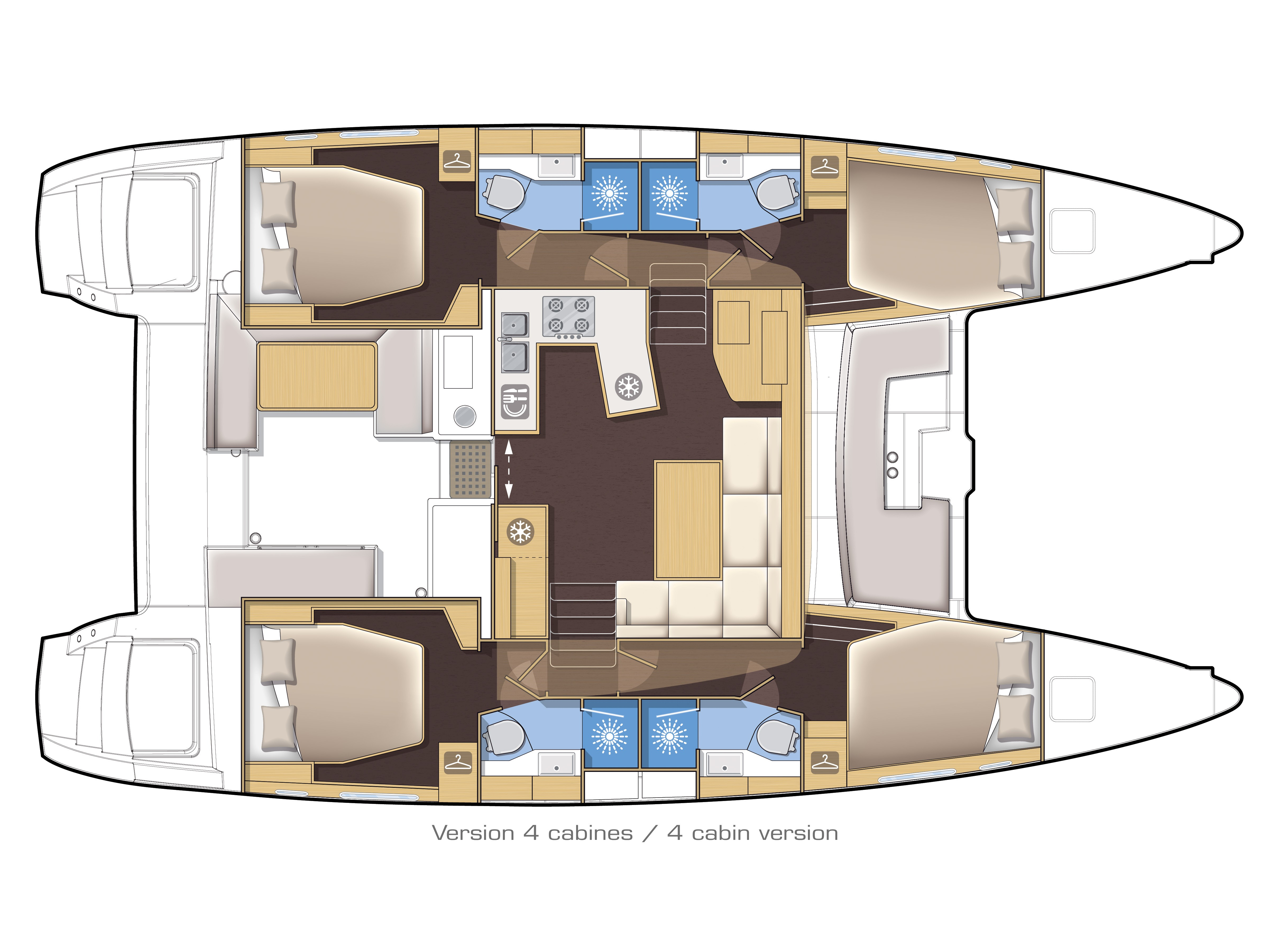 Lagoon 450 (2016) equipped with generator, A/C (sa (SMILE I) Plan image - 1