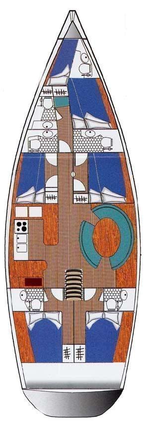 Ocean Star 56.1 - 5 cabins (Alexandria) Plan image - 3