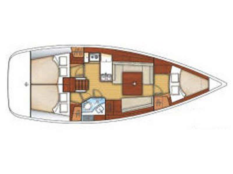 Beneteau 37 (SMARAGDA) Plan image - 2
